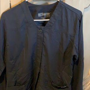 Greys anatomy scrub jacket medium charcoal grey